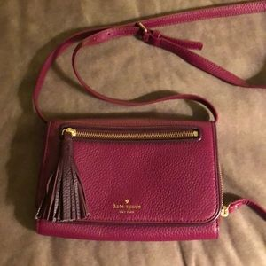 Kate Spade raspberry color crossbody purse